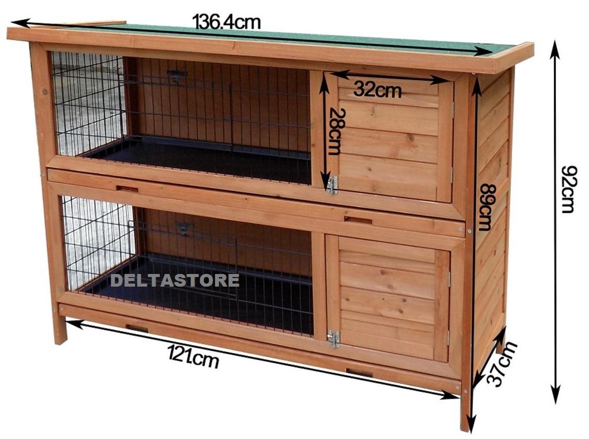Casetta per conigli in legno 2 piani separati deltastore - Casetta per conigli ...